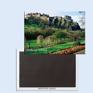 Edinburgh Castle, Edinburgh, Scotland, Magnetic refrigerator stickers, tourist souvenirs, small gifts 24758