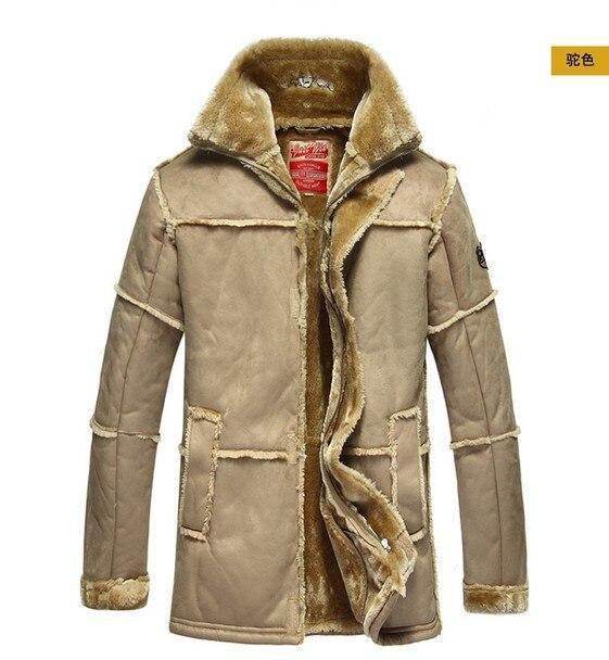¡Cuidado! Nueva chaqueta de piel larga gruesa de lujo famosa clásica de alta calidad de invierno para hombre