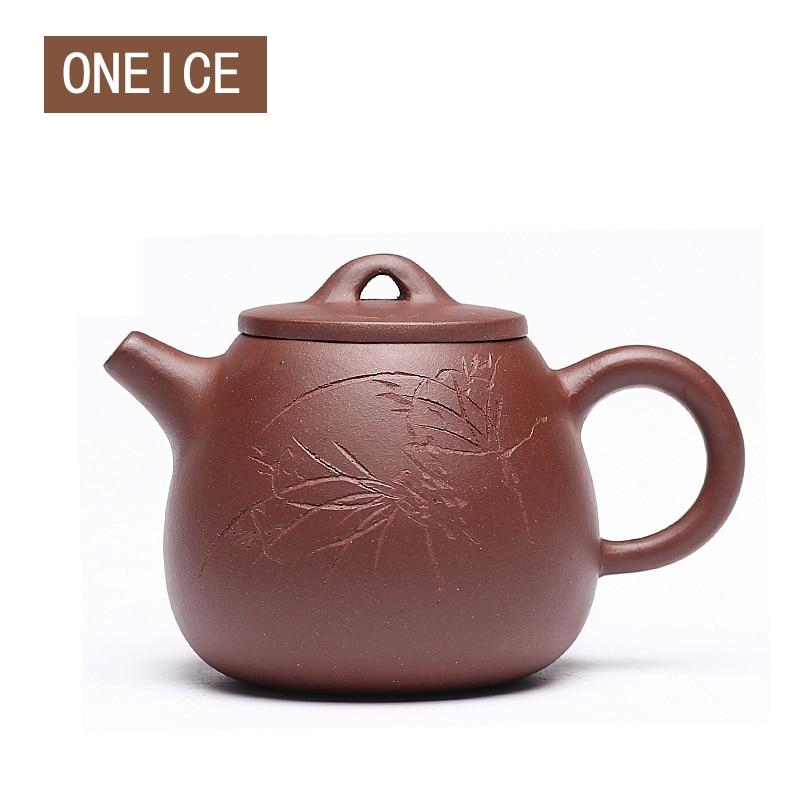 Chinese Yixing Teaware Teapots purple clay Teapot High Stone scoop pot teapot Author: Zhou ting 160ml Chinese Zisha Tea Pots