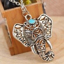 Gitane Vintage argent éléphant pendentif collier chaîne bijoux cadeau 4ND112