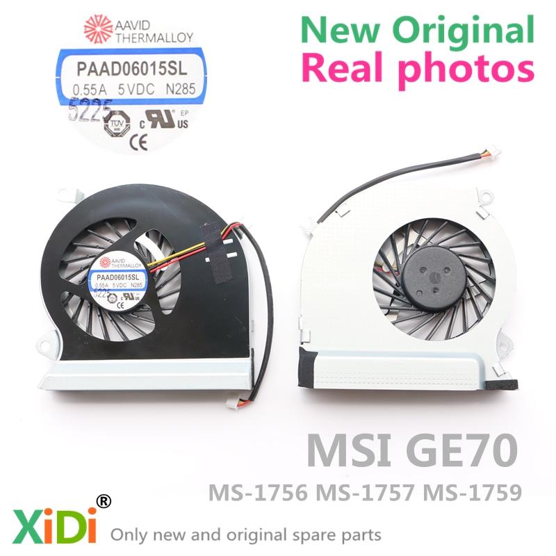 Новый оригинальный вентилятор процессора для MSI GE70 MS-1756 MS-1757