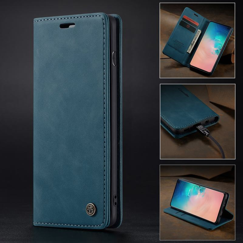 Abdeckung Fall Für Samsung S7 Rand Galaxy S8 S9 S10 Plus 5G Telefon Fall 360 Leder Wallet Magnetic Flip gehäuse S7edge S8plus S9plus