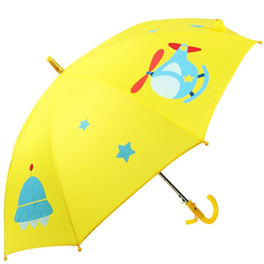 Children Cartoon Umbrella Long Handle Green Cute Umbrella Kids Parasol Garden Knuckle Brass Guarda Chuva Unbrella Cancan 50KO098