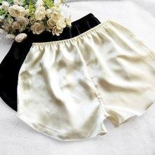 Summer silk women's trunk shorts at home safety pants legging silk panties