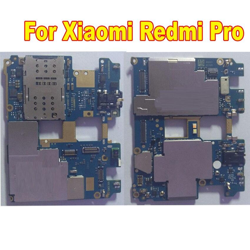 لوحة رئيسية أصلية تم اختبارها لـ Xiaomi Redmi Pro Hongmi Pro 64GB ، لوحة أم غير مقفلة ، بطاقة رسوم ، كابل مرن