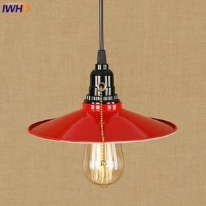 Винтажная светодиодная Подвесная лампа IWHD RH, потолочный светильник в стиле индастриал, освещение в стиле лофт, осветительный прибор для дома