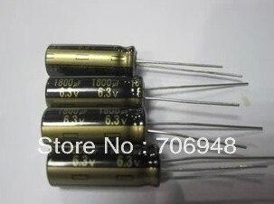 Niedrigen ESR Aluminium Electrolynic Kondensator 6,3 v 1800uf 8x20mm 105 celsius grad