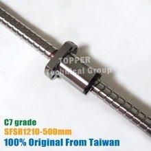 Taiwan TBI 1210 Ball schrauben 500mm C7 + SFS1210 mutter für lineare CNC Router Teile mit ende bearbeitet SFS