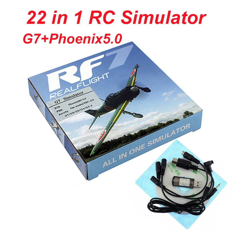 22 in 1 RC Flight Simulator 8in1 USB Simulation for Realflight Support G7.5 G7 G6.5 G5 Flysky FS-I6 TH9X Phoenix5 enlarge