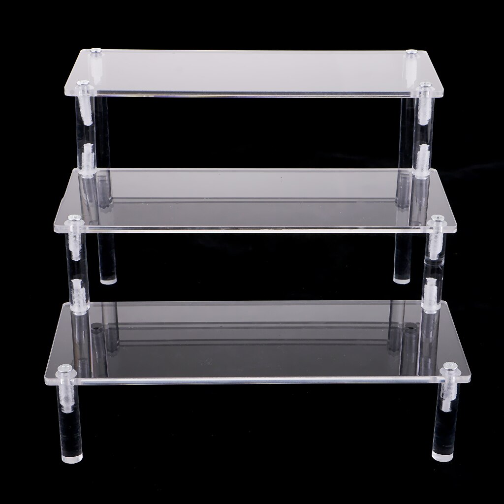 Acrylic Cosmetics Storage Rack Detachable Model Figures Display Stand 3-Tier