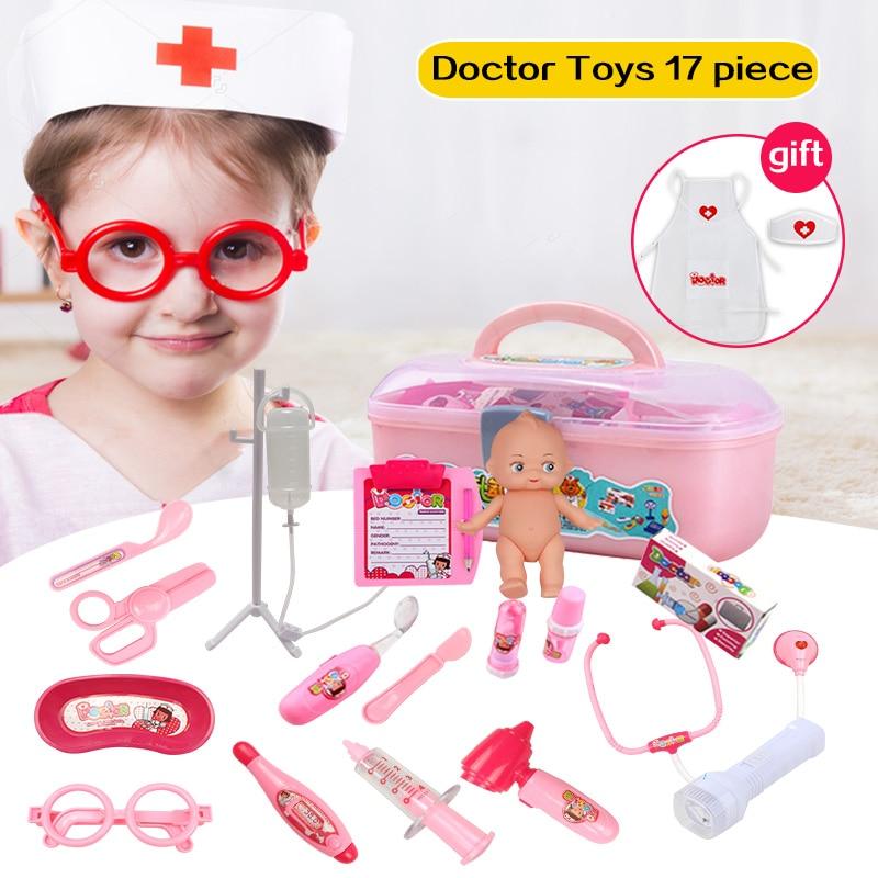 Huanger Doctor Play Набор игрушек Doctora Juguetes для детей медицинский набор Детская обучающая