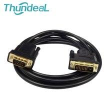 DVI vers VGA mâle vers mâle M/M DVI-D 24 + 1 compatibilité DVI-I 24 + 5 adaptateur puce intégrée connecteur DVD convertisseur de projecteur XBOX PS