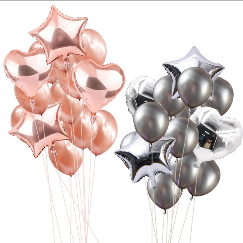 14pcs 12inch 18inch Colorful Air Balloons Happy Birthday party Xmas Latex Balloon Decorations wedding festival ballon supplies