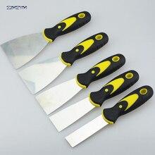 1 pouce couteau à mastic 1 pièces grattoir lame grattoir pelle en acier au carbone poignée en plastique mur plâtrage couteau à main outil 195x25mm