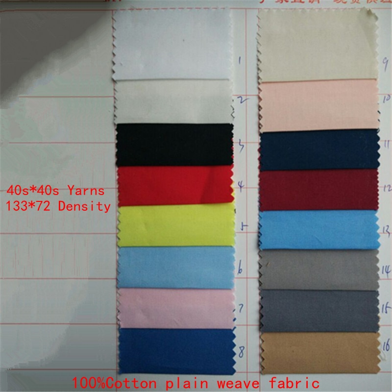 1,45*2 metros plain100 % algodón ropa tela 40s * 40s azul tejidos de popelina