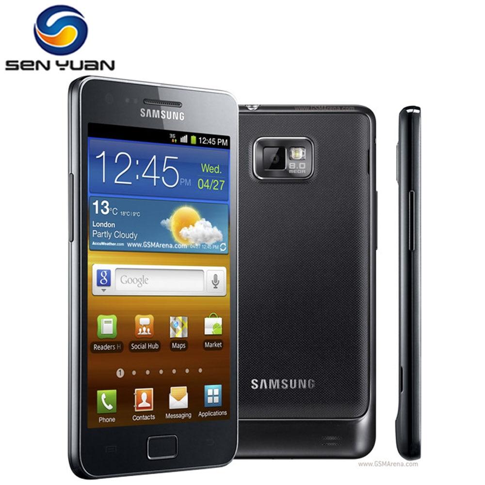 Samsung-teléfono inteligente GALAXY S2 I9100, teléfono móvil Original libre con Android, Wi-Fi, GPS, cámara de 8.0MP, núcleo de 4,3 , 1GB RAM