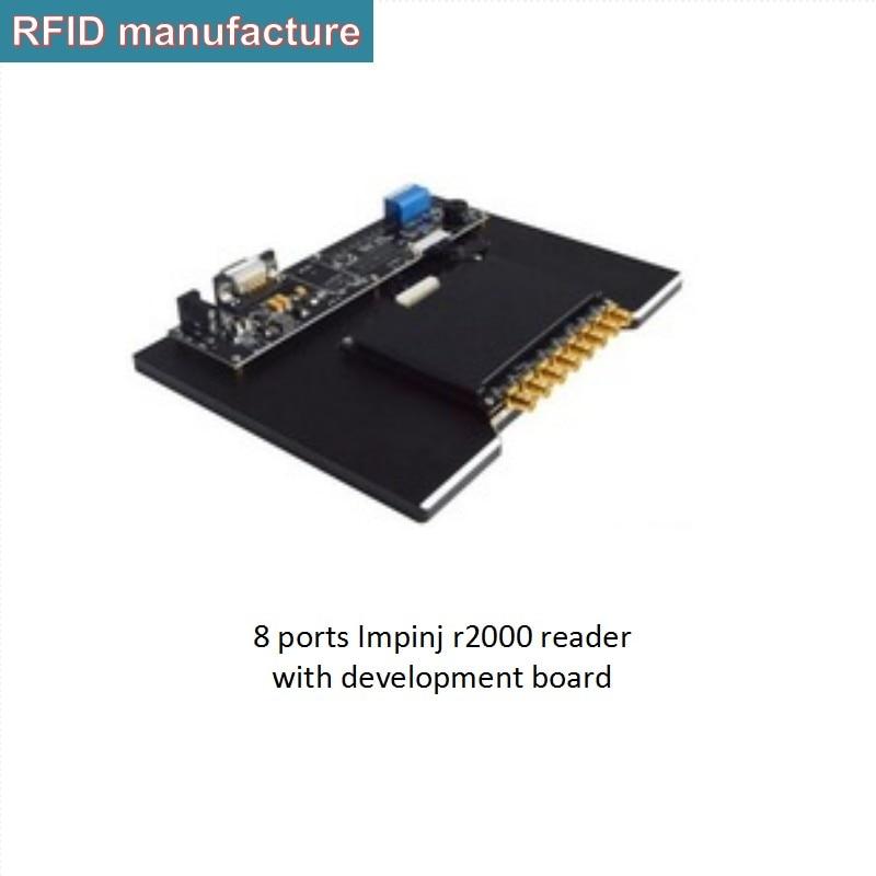 Profissional fornecedor de portas 8 impinj r2000 uhf rfid módulo leitor Multi-tag leitura 1- 500 tags/segundo com o Inglês SDK