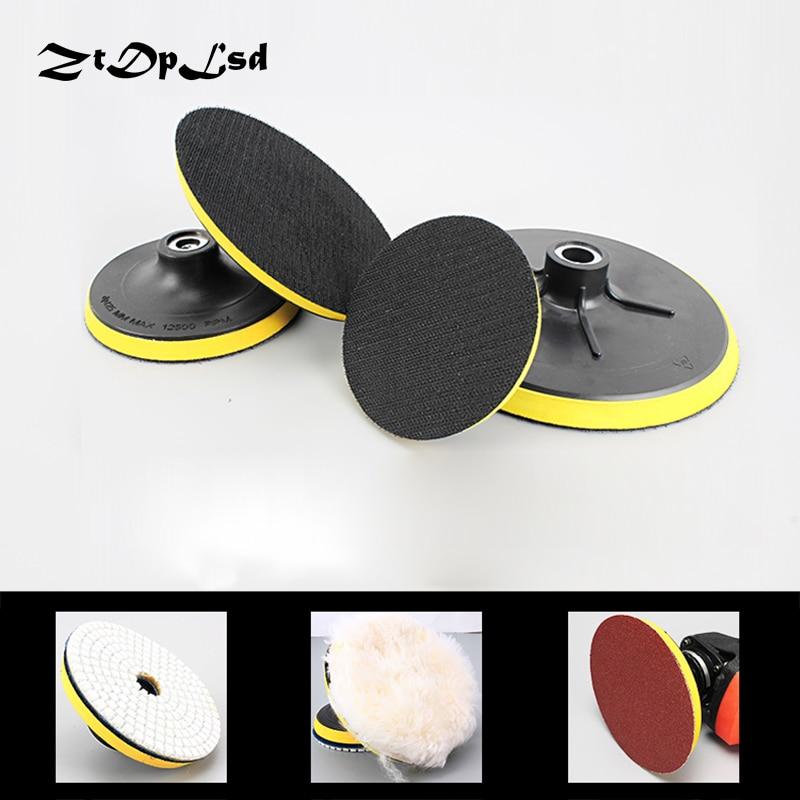 1 шт. самоклеящийся диск для полировки ZtDpLsd, полировальный лист наждачной бумаги, клейкий диск, патрон, угловая шлифовальная машина, липкая пластина для автомобиля