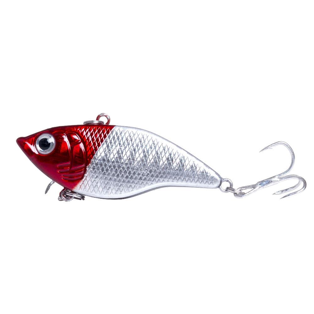 HENGJIA 5 cm 15g Rígido Isca de Pesca VIB Rattlin Gancho 3D Olhos Pesca Sinking Iscas Manivela Rattlin Hooktion Vibra iscas