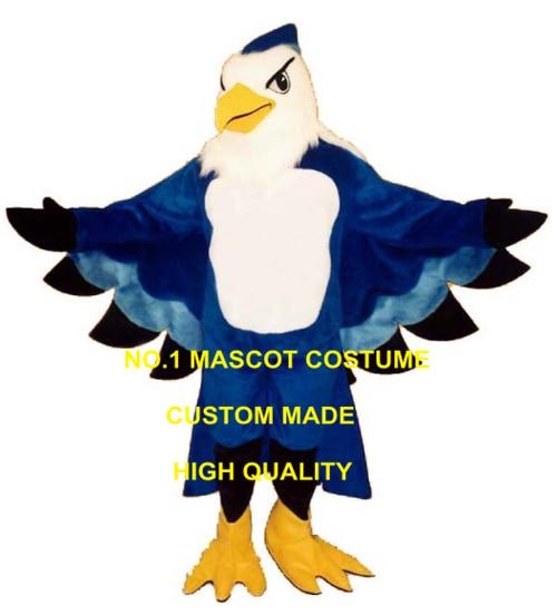 Anime Cosply Costumes Blue Ptarmigan Thunderbird Mascot Costume Wholesale Custom Cartoon Theme Mascottes Carnival Fancy 1872