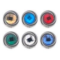 wholesale w178 crystal 3d 18mm 20mm metal snap button for bracelet necklace interchangeable jewelry women accessorie findings