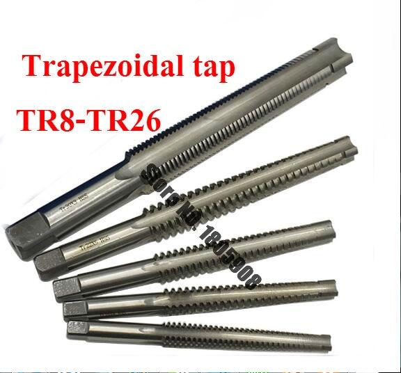 1 шт. высокое качество TR8 TR10 TR12 TR14 TR16 TR18 TR20 TR22 TR24 TR25 TR26 * 2/3/4/5 трапециевидная HSS правая левая резьба,