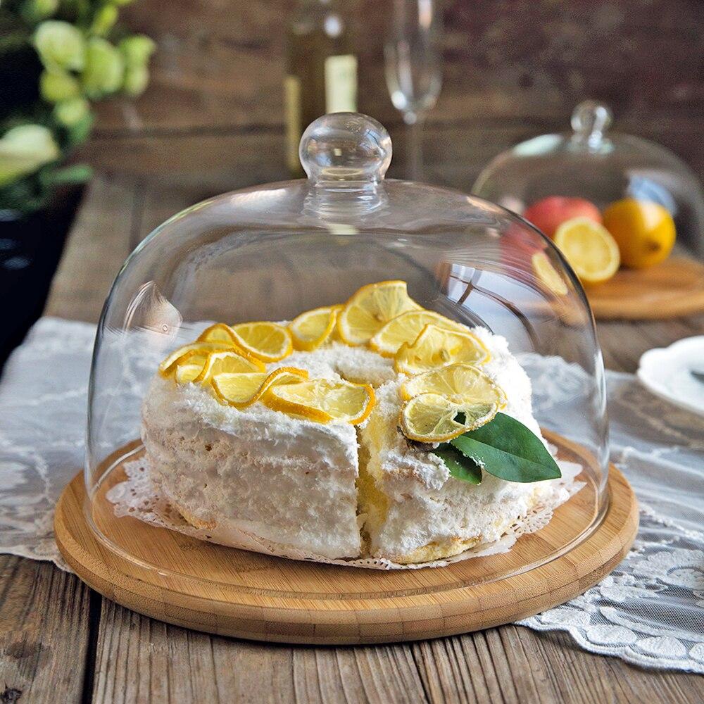 MDZF SWEETHOME-صينية كيك بغطاء زجاجي للوجبات الخفيفة ، طبق حلوى الفاكهة ، أدوات الخبز ، 6 ، 8 ، 10 بوصة