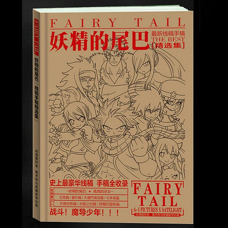 192 seiten Anime Fairy Tail Anti-Stress-Colouring Buch für Erwachsene Kinder Entlasten Stress Malerei Zeichnung Färbung Buch Geschenke