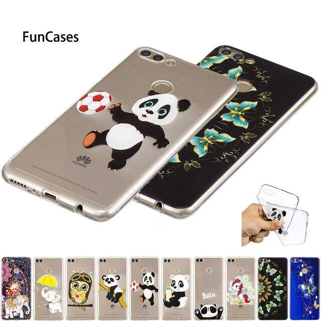 Panda Elefanten Fall Coque Für Huawei P8 P9 Lite mini P10 P20 Pro Y5 Y6 2017 Y7 Y9 2018 P smart Weiche TPU Fundas B119 Huaweii