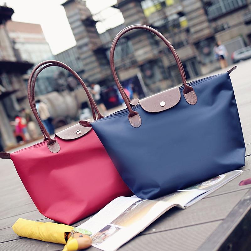 2021 New Fashion Women Bags Famous Brands Designer Handbags Beach Bags Casual Leather Nylon Waterproof Tote Bags Bolsas Feminina