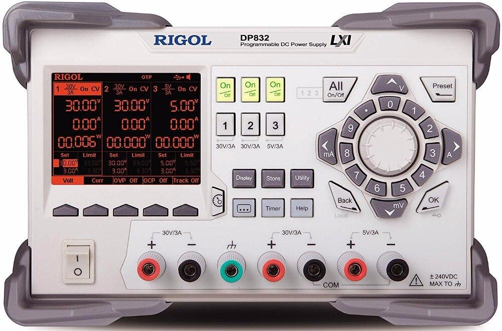DP832 salida Triple programable 195 vatios DC fuente de alimentación 2CH 30 V/3A, 1CH 5 V/3A