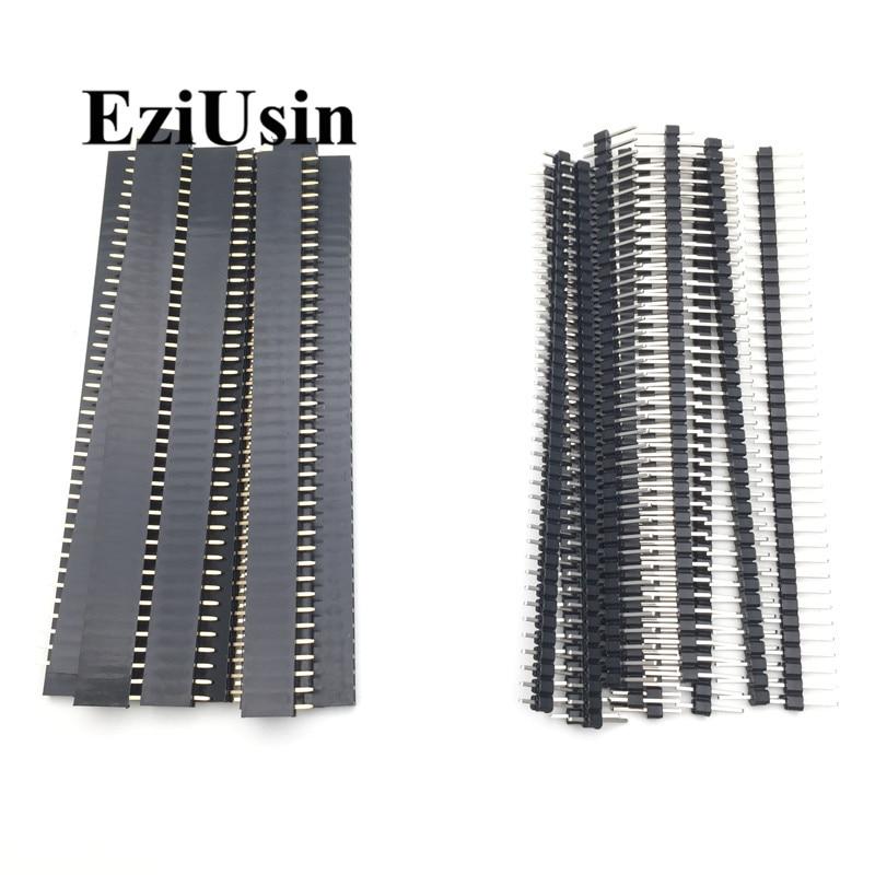 20-pz-10-paia-40-pin-1x40-fila-singola-maschio-e-femmina-254-breakable-pin-header-pcb-jst-connettore-striscia-per-arduino-nero