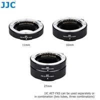 jjc mcex 11 mcex 16 x mount auto focus macro extension tube set adapter ring for fuji fujifilm xt30 xt3 xt4 xe4 xpro3 xt20 x e4