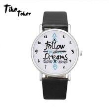 Tike طوكر ، العلامة التجارية الأزياء اتبع السهم ووتش النساء اللباس ووتش عارضة الجلود خمر سوار ساعة ووتش الرجال Wristwatch8