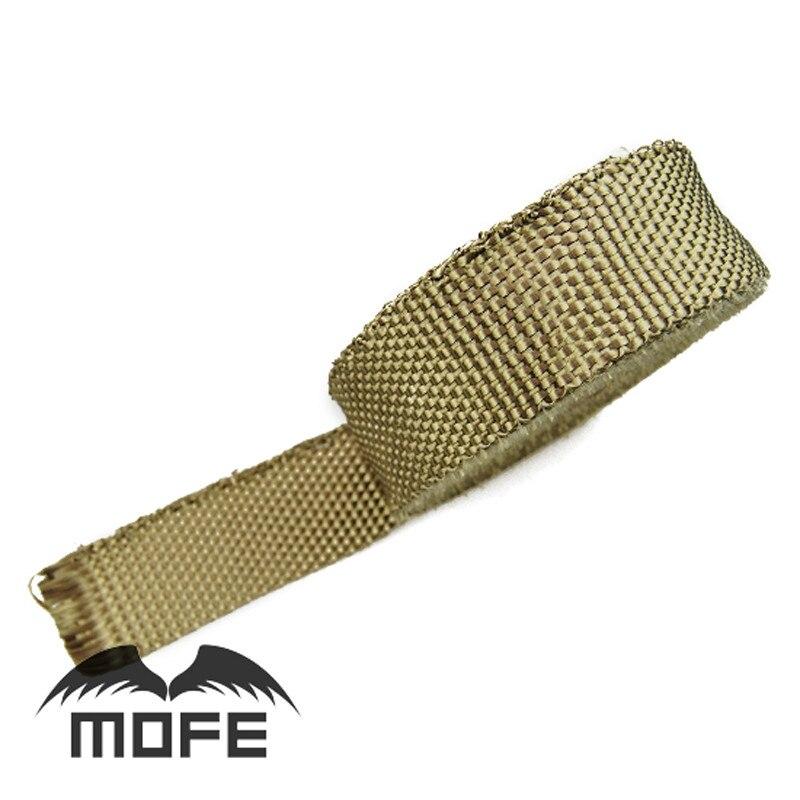 "7,13 MOFE tubo de escape térmico de titanio cinta Termocontraíble aislante/resistente envoltura ignífuga rollo de tela 2 ""x 10m"