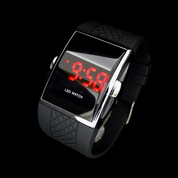 Moda estilo quente digital led relógio de pulso relógio de pulso presentes garoto meninos masculino preto relógio para o amante presente ll