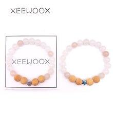Boho-bracelet Couple couleur bonbon   Pierre naturelle, pour homme femmes, perles, bijoux, breloque, cadeau, nouvelle collection 2019