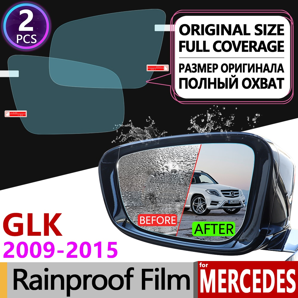 for Mercedes Benz GLK x204 Full Cover Anti Fog Film Rearview Mirror Accessories GLK280 GLK300 GLK350 GLK220 GLK250 300 220 250