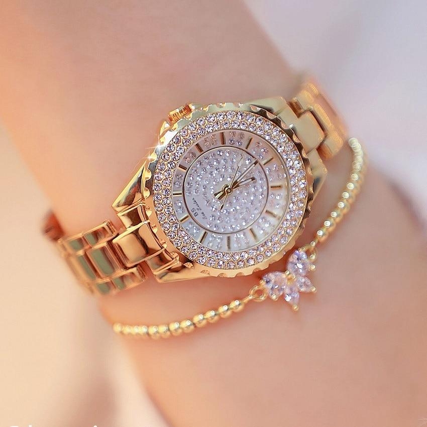 32mm Luxury Diamond Dial Women Watches Lady's Elegant Dress Watch Full Steel Girl Fashion Casual Quartz Watches Montre Femme