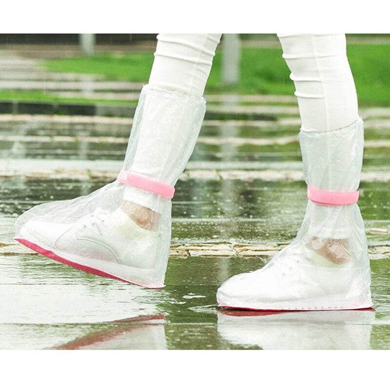 Botas de lluvia impermeables reutilizables cubre zapatos motocicleta bicicleta de ciclismo fácil de montar para jinete para zapatillas