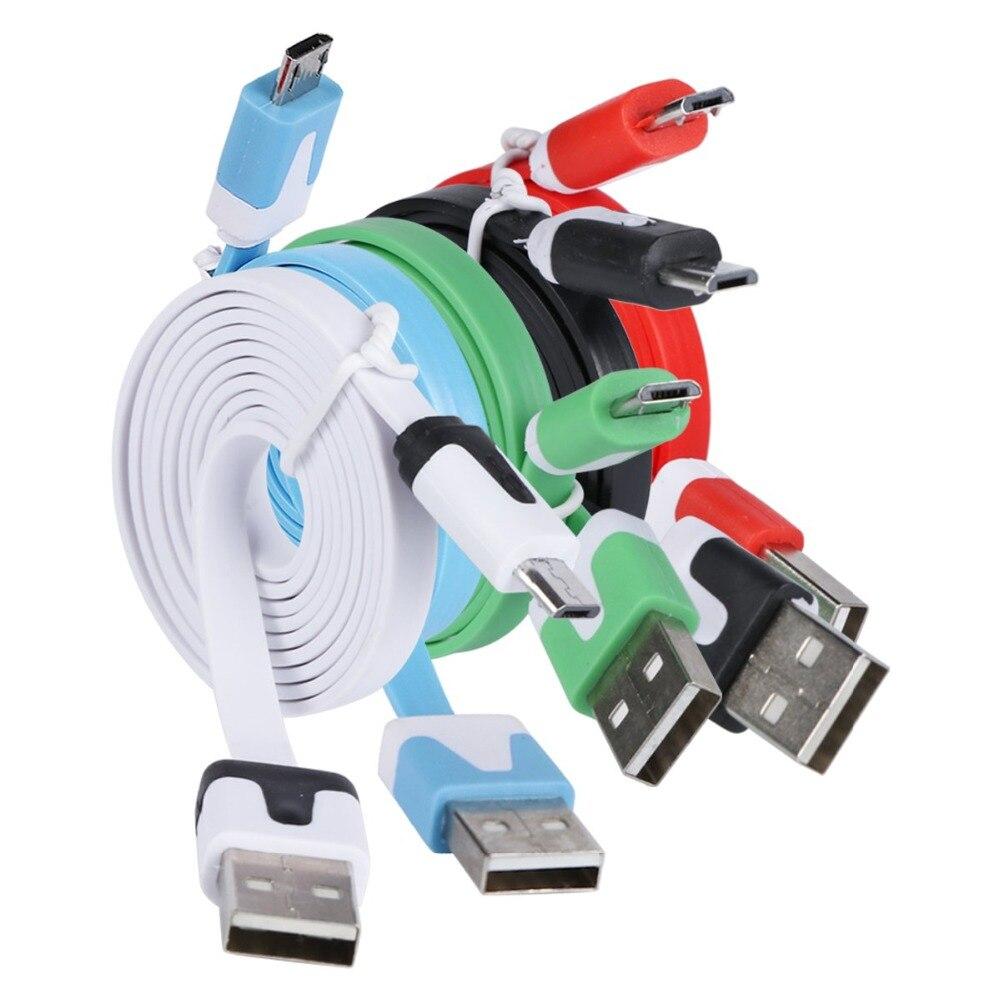 1M Flache Nudel Micro USB Ladegerät Sync Daten Kabel Universelle Lade Datenkabel für Samsung Xiaomi Android Handys