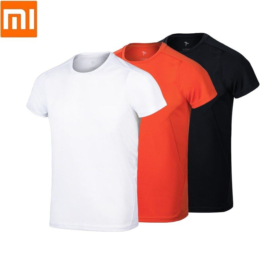 Xiaomi man COOLMAX quick-drying sports t-shirt Quick drying Short sleeve Reflective Fitness Running Sweatshirt for male