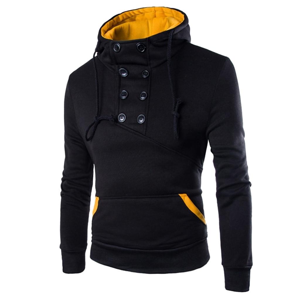 2020 New Hoodies Men Brand Male hip hop Hooded Sweatshirt Mens Hoodie Tracksuit Sweat Coat Casual Patchwork Sportswear M-3XL