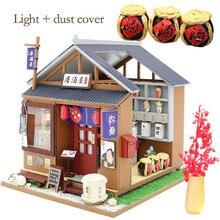 Bricolage Miniature maisons de poupée en bois Style japonais dégustation maison dalcool maison de poupée Kit de meubles enfants jouets de noël cadeaux