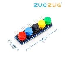 5pcs/set Electronic Building Blocks Big Key Button Module large Button Module Five Key model