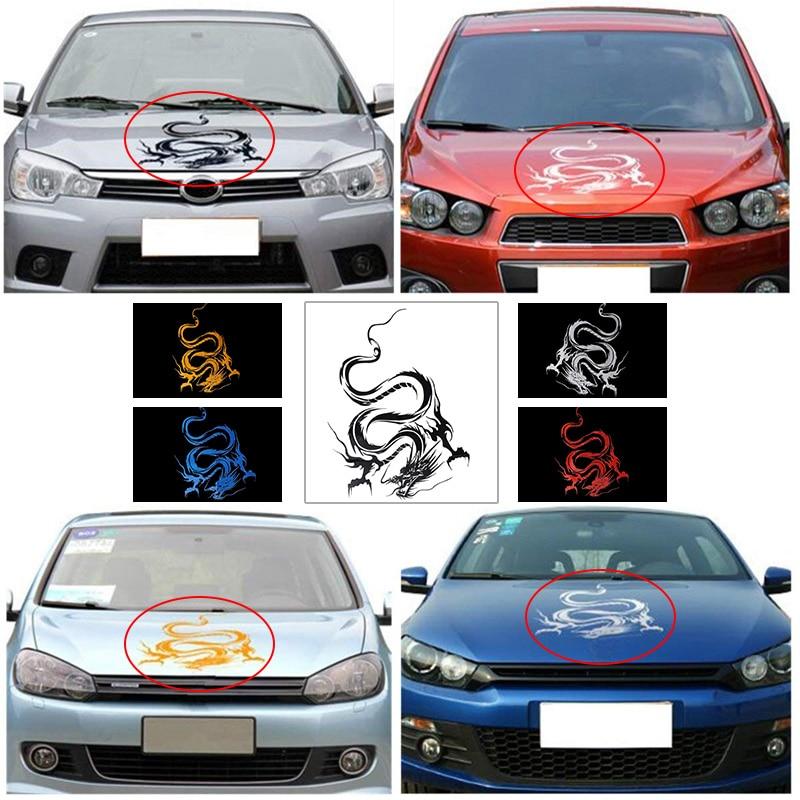 Chinese Mythical Dragon Creative Car Styling Decorative Vinyl Car Sticker Car Hood Body Wrap Decal On Car Racing Sport