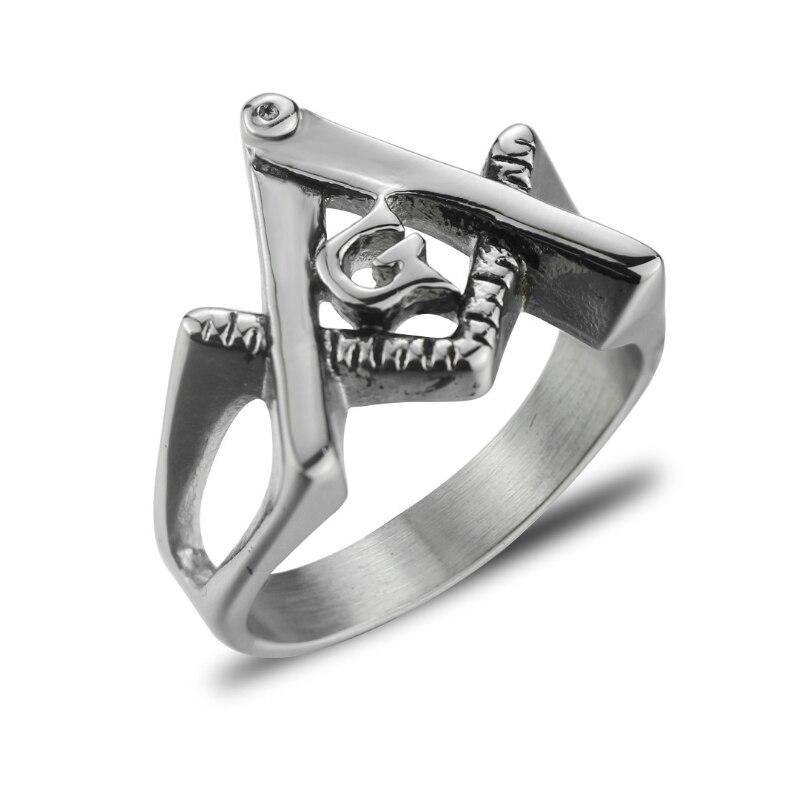 Joyería de moda para hombre, anillo de plata para hombre, anillo masónico de acero inoxidable 316L, anillo masónico para hombre, venta al por mayor