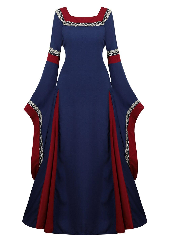 Vestido medieval trajes de halloween para as mulheres cosplay palácio nobre longo vestes antigo sino manga princesa traje vestido novo vermelho