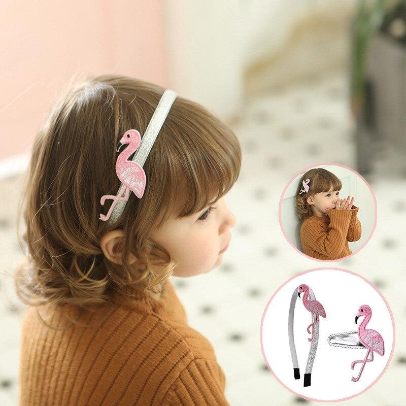 Flamingo/Unicorn Party Headband Hair Clip Birthday Party Decorations Kids Gift Rainbow Unicorn Decor Girls Birthday Souvenirs
