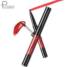 Pudaier 16 couleurs 2 en 1 stylo à lèvres et Labial Glair velours mat brillant à lèvres imperméable maquillage cosmétiques rouge à lèvres